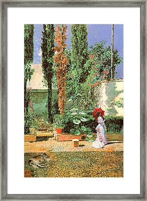 Fortunys Garden Framed Print by Mariano Fortuny