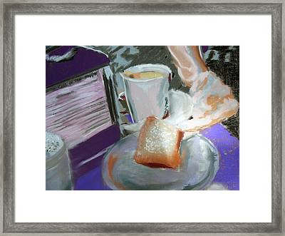040517 Beni Gets And Coffee Framed Print