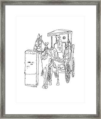 04061025 Horse And Buggy Framed Print by Garland Oldham