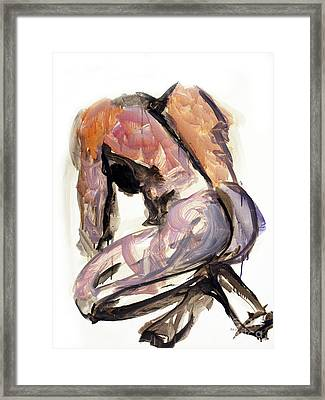 04146 Exhaustion Framed Print