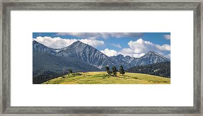 #0491 - Spanish Peaks, Southwest Montana Framed Print