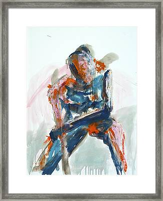 04954 Athlete Framed Print by AnneKarin Glass