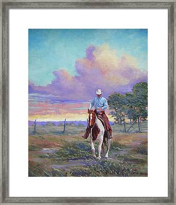 050617-1620   Today Is A One Man Job  Framed Print by Kenneth Shanika
