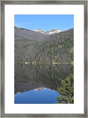 Chambers Lake Reflection Hwy 14 Co Framed Print
