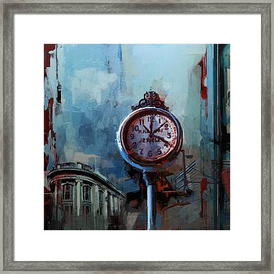 060 Milwaukee County Historical Society's Street Clock Frozen In Time Framed Print