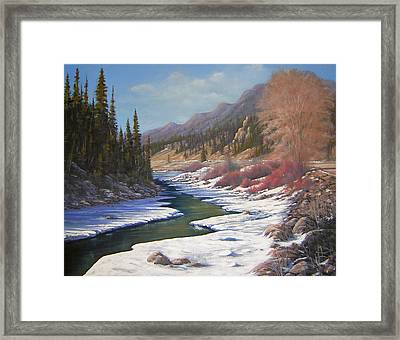 060328-2822    Remnants Of Winter   Framed Print by Kenneth Shanika
