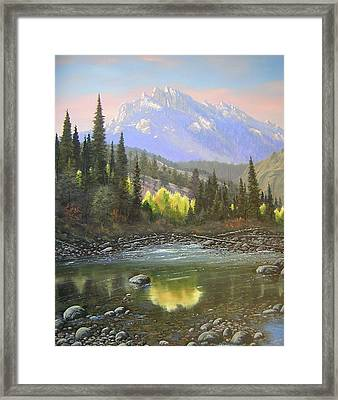 060409-2430  Long Scraggy Mountain - Reflections   Framed Print by Kenneth Shanika