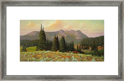 060815-1224  Late Summer Flowers Framed Print by Kenneth Shanika