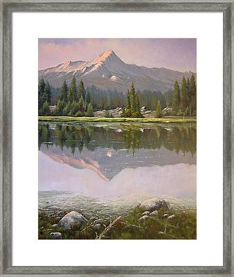 060923-2430  Reflections At Days End   Framed Print by Kenneth Shanika