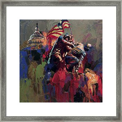 062 Jima Marine Memorial Washington Dc Framed Print