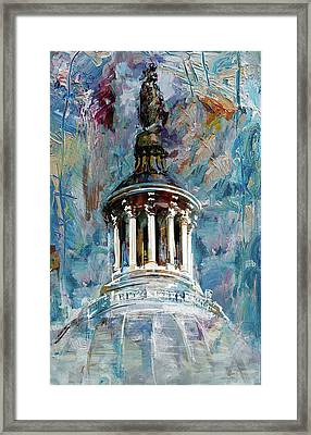 063 United States Capitol Dome Framed Print by Maryam Mughal