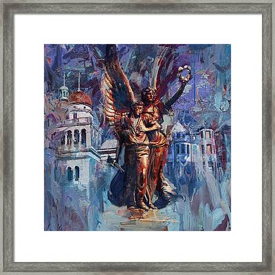 064 Spirit Of The Confederacy Monument Framed Print by Maryam Mughal