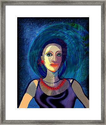 066 - Woman With   Necklace Framed Print