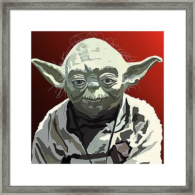 068. Do Or Do Not. There Is No Try Framed Print