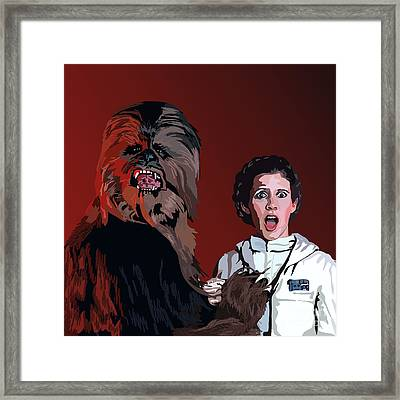 070. Naughty Wookie Framed Print by Tam Hazlewood