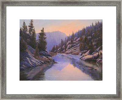 071123-1612  Remnants Of The Day In The Canyon Framed Print by Kenneth Shanika