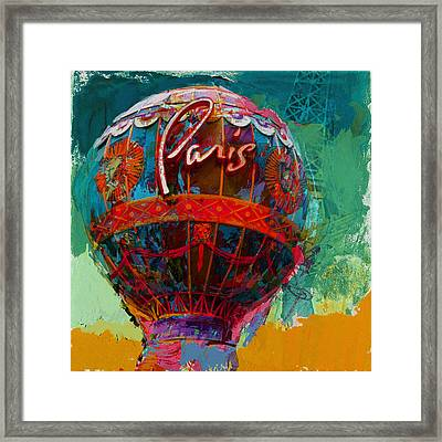 075 The Iconic Paris Casino Balloon Framed Print