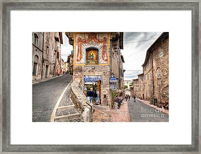 0755 Assisi Italy Framed Print by Steve Sturgill
