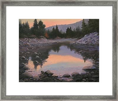 080110-2016  Sundown Reflections Framed Print by Kenneth Shanika