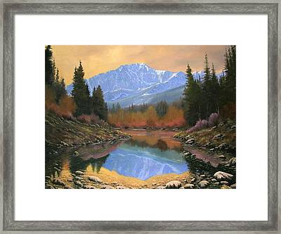 080220-4030 In All Its Glory - Pikes Peak Framed Print by Kenneth Shanika