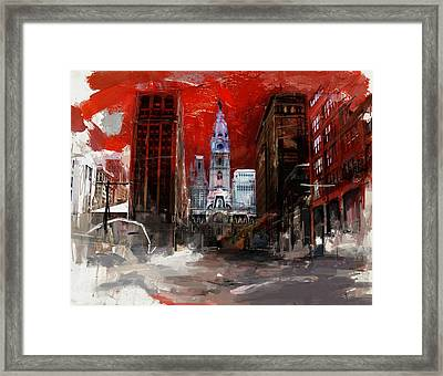 081 Parade On South Broad Street Framed Print by Maryam Mughal