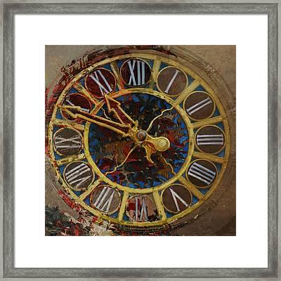 082 Tiffany Clock Framed Print by Mahnoor Shah