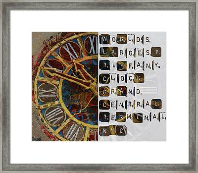 082 Tiffany Clockb Framed Print by Mahnoor Shah