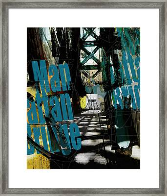 083 Manhattan Bridgeb Framed Print