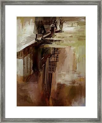 086 Rockefeller Center Reflection0 Framed Print by Mahnoor Shah