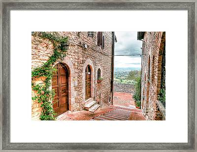 0874 Assisi Italy Framed Print by Steve Sturgill