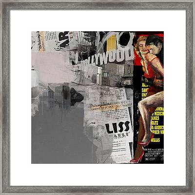 088 Hollywood Framed Print by Mahnoor Shah
