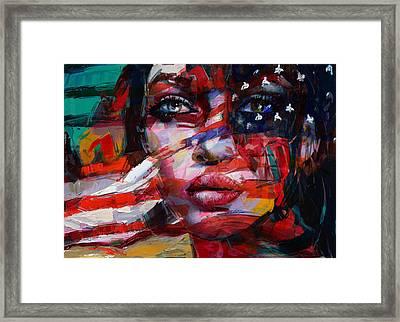 089 Flag And Eyes Framed Print