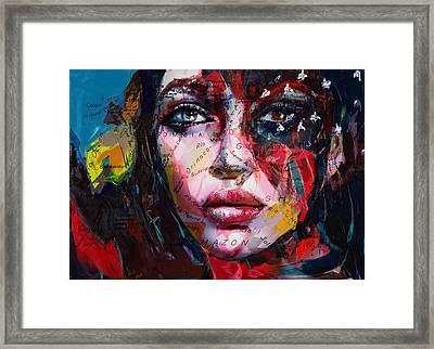 089e Flag And Eyes Framed Print