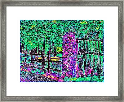 08f  Fences Of Maine Framed Print by Ed Immar