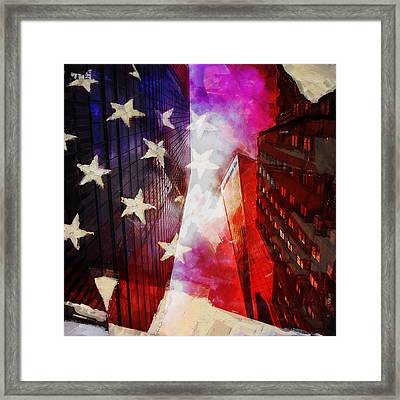 090 Look Up New York Framed Print