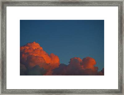Fireclouds Framed Print