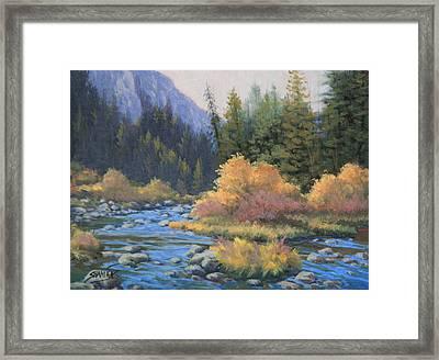 090917-68  Canyon Stream Framed Print by Kenneth Shanika