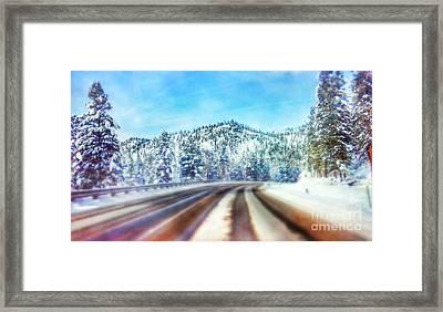 A December Drive Framed Print by Janie Johnson