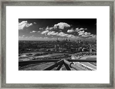 City Of London Skyline  Panarama Framed Print by David French