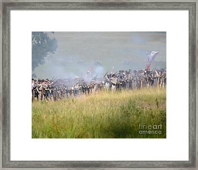 Gettysburg Confederate Infantry 7503c Framed Print