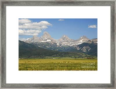 Grand Tetons  Framed Print by Tomaz Kunst
