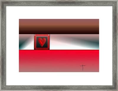 Framed Print featuring the digital art . by James Lanigan Thompson MFA