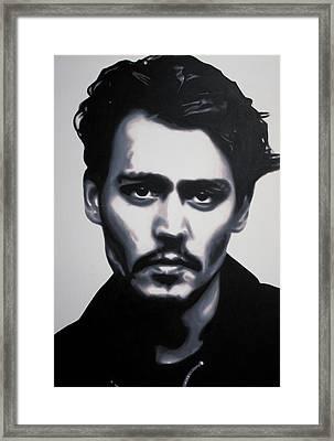- Johnny - Framed Print by Luis Ludzska