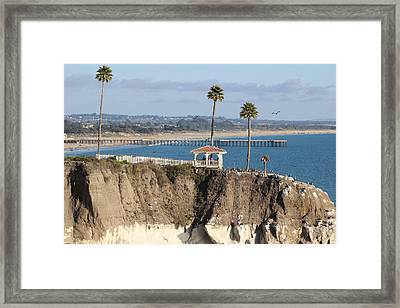 Pismo Beach Gazebo And Pier Framed Print