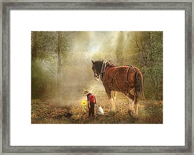 The Seeds We Sow Framed Print