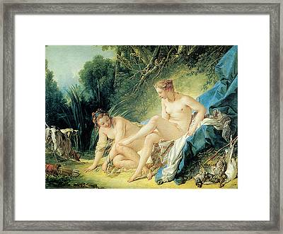 Diana Bathing Framed Print by Francois Boucher