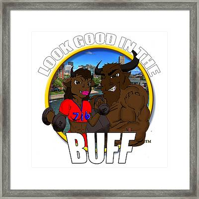 013 Look Good In The Buff Framed Print