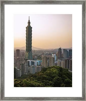 101 Tower Sunset Framed Print