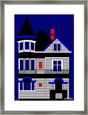 1080 Haight Street Framed Print by Asbjorn Lonvig