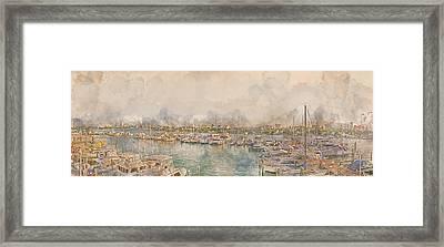10879 Clearwater Marina Framed Print